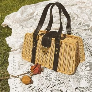 Not for sale right now - Darling Juicy Couture rattan wicker basket trunk purse